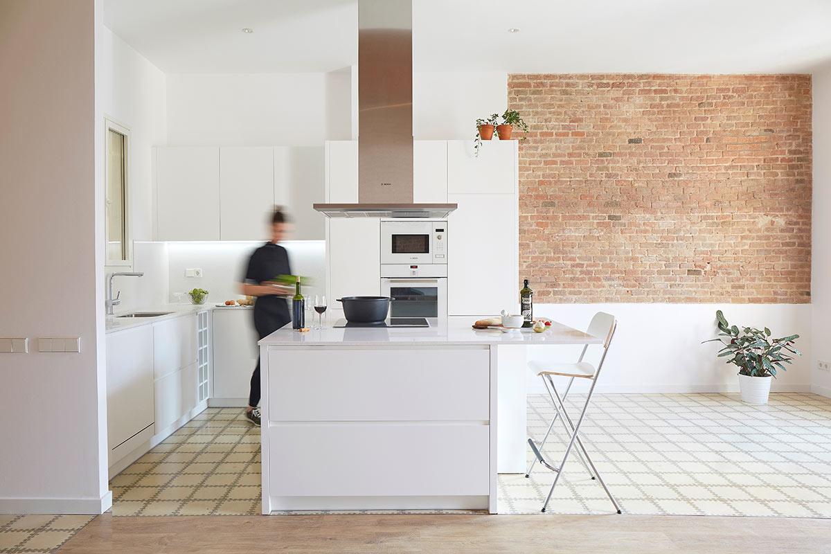 Muebles de cocina lacados c girona de barcelona omo for Proyecto muebles de cocina