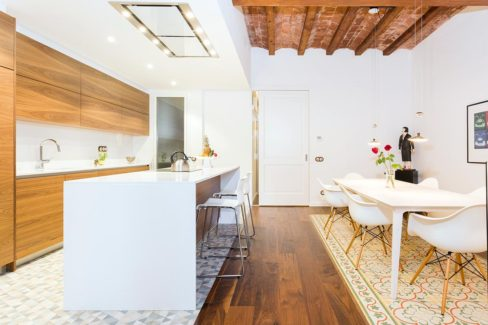 Muebles de cocina de nogal americano