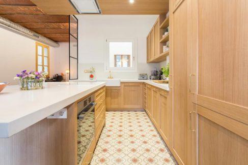 Cocina abierta a la vivienda