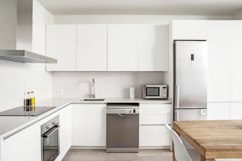 Fotos de cocinas blancas en barcelona - Cocinas blancas lacadas ...