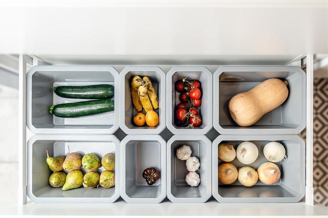 Organización cajón de la fruta y verdura en la cocina